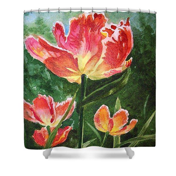 Gorgeous Tulip Garden By Irina Sztukowski Shower Curtain