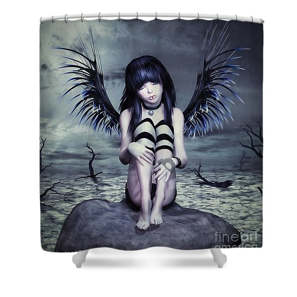 Goth Fairy Shower Curtain
