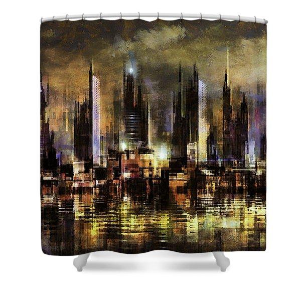 Gotham City IIi Shower Curtain