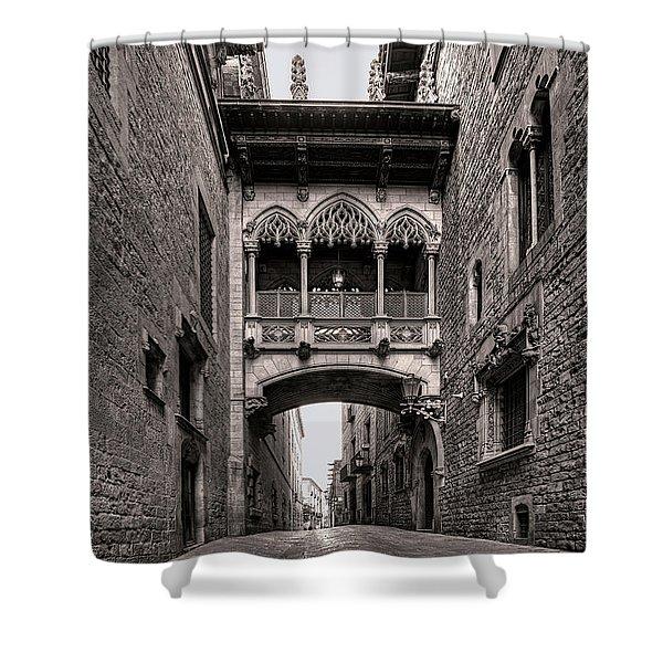 Gothic Barcelona Shower Curtain