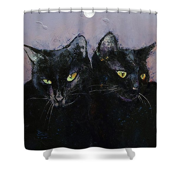 Gothic Cats Shower Curtain
