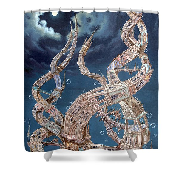 Gothic Genome Shower Curtain