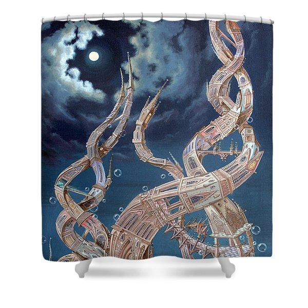 Gothic Genome Shower Curtain