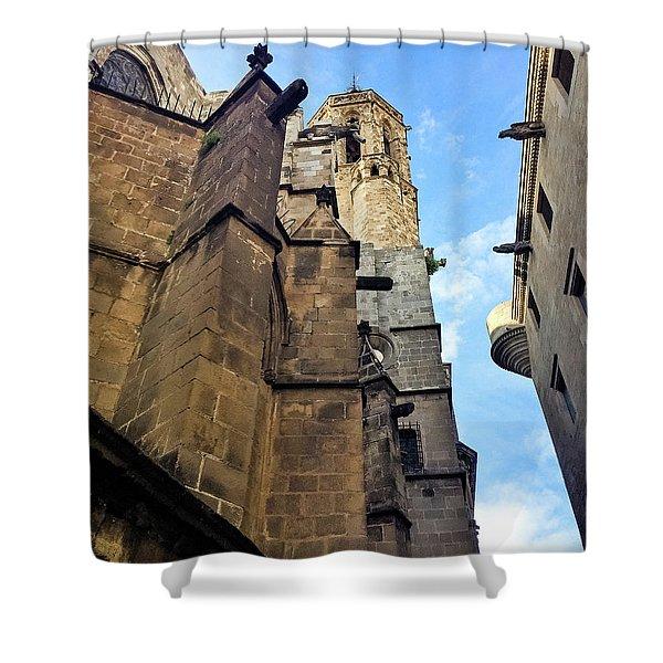 Gothic Quarter Stone Buildings  Shower Curtain