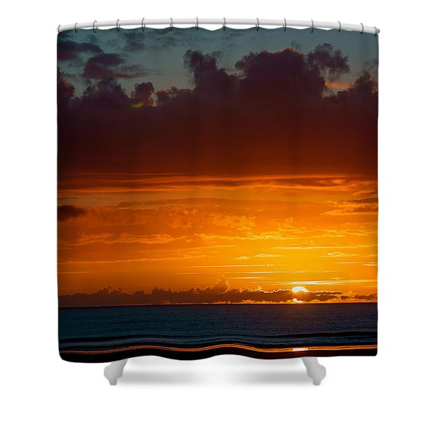 Gower Sundown Shower Curtain