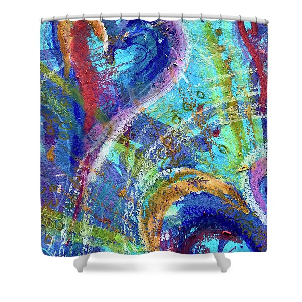 Graceful Hearts Shower Curtain