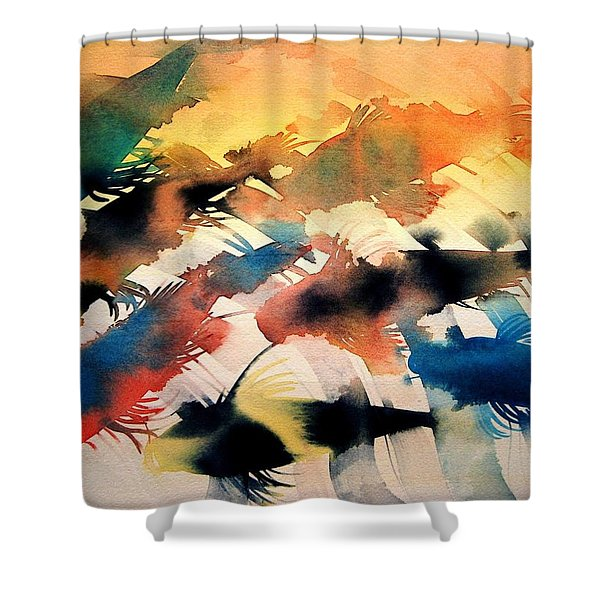 Gracefully  Shower Curtain