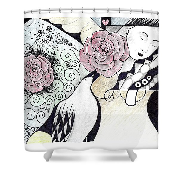 Gracefully - In Color Shower Curtain