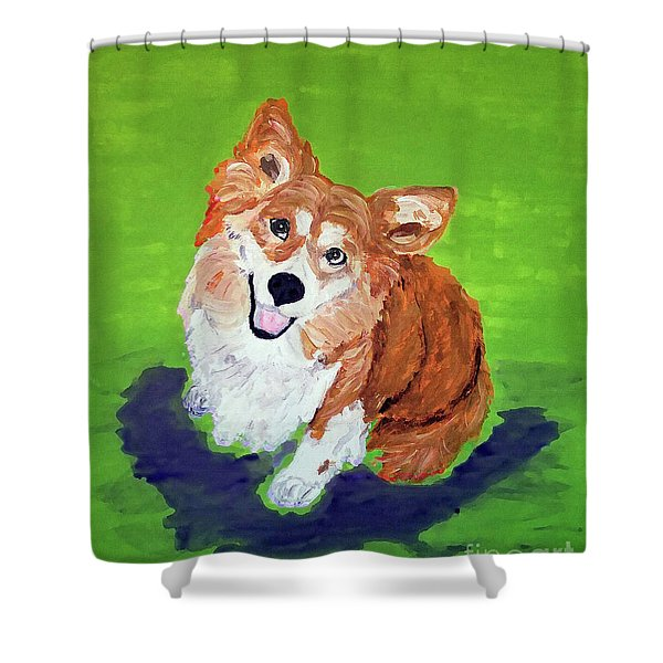 Gracie_dwp_may_2017 Shower Curtain