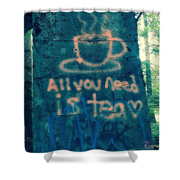Graffitea Time Shower Curtain
