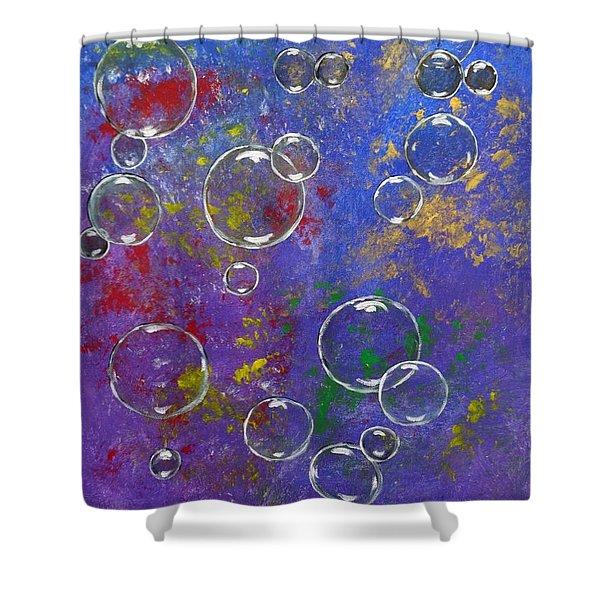Graffiti Bubbles Shower Curtain