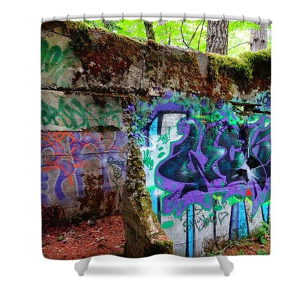 Graffiti Illusion Shower Curtain