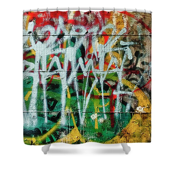 Graffiti Scramble Shower Curtain