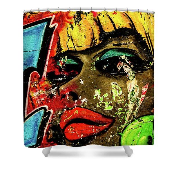 Graffiti_04 Shower Curtain