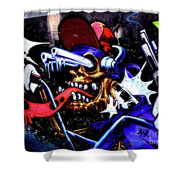 Graffiti_05 Shower Curtain