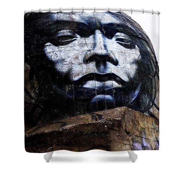Graffiti_07 Shower Curtain