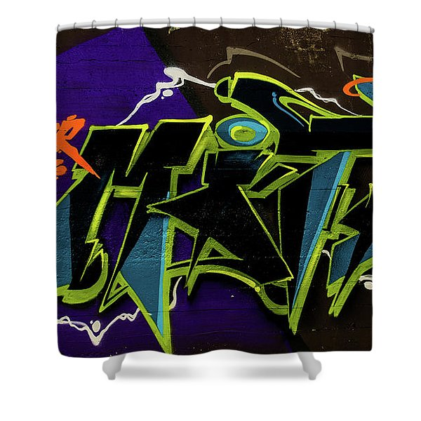 Graffiti_18 Shower Curtain