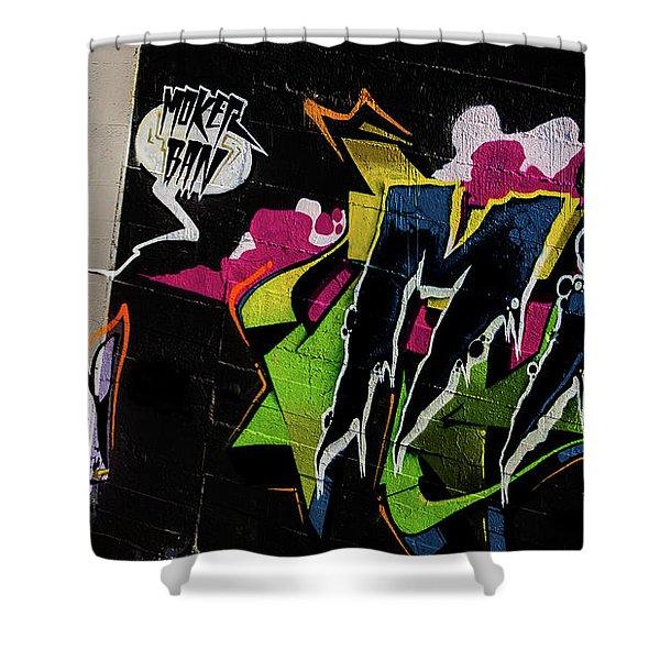 Graffiti_19 Shower Curtain