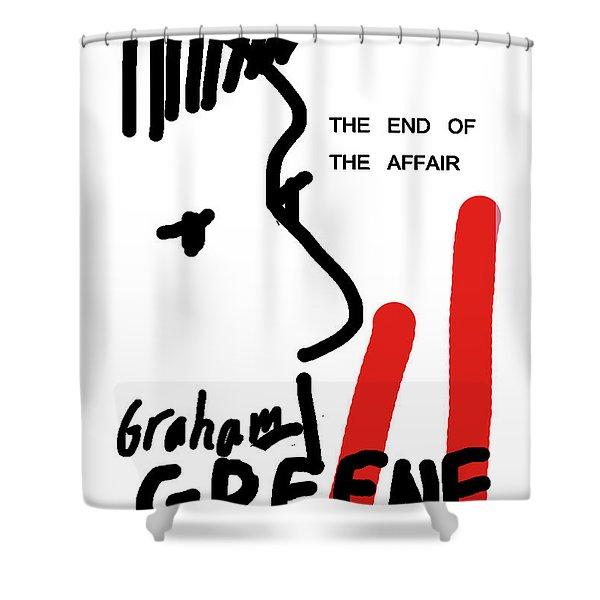 Graham Greene End Of Affair  Shower Curtain