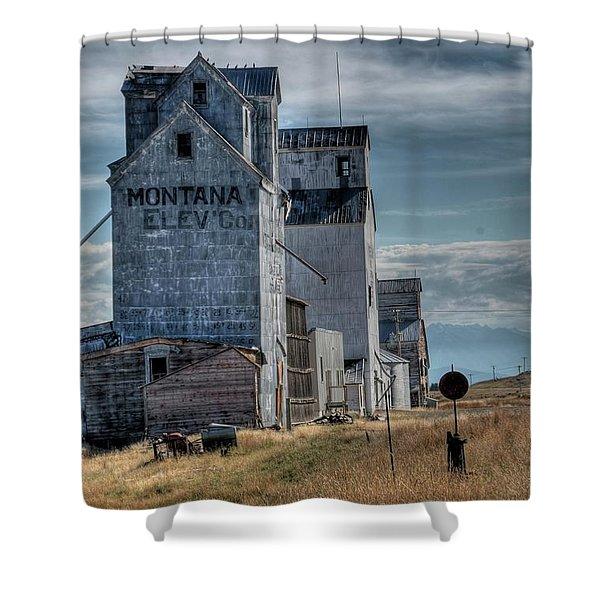 Grain Elevators, Wilsall Shower Curtain