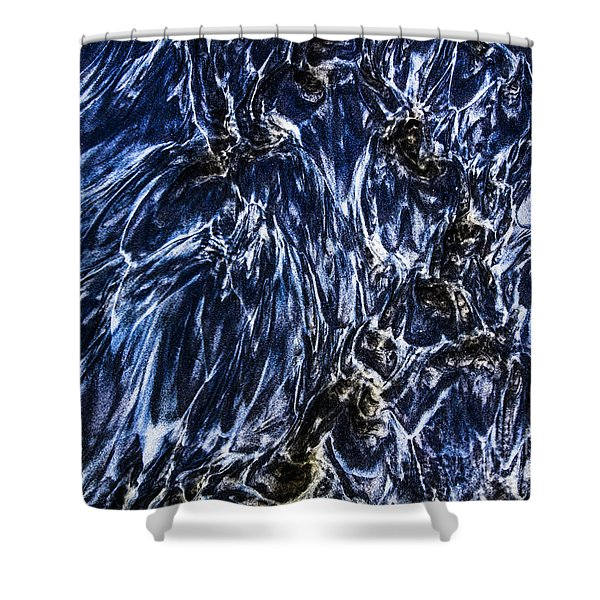 Grainy Sands And Sea Water Shower Curtain