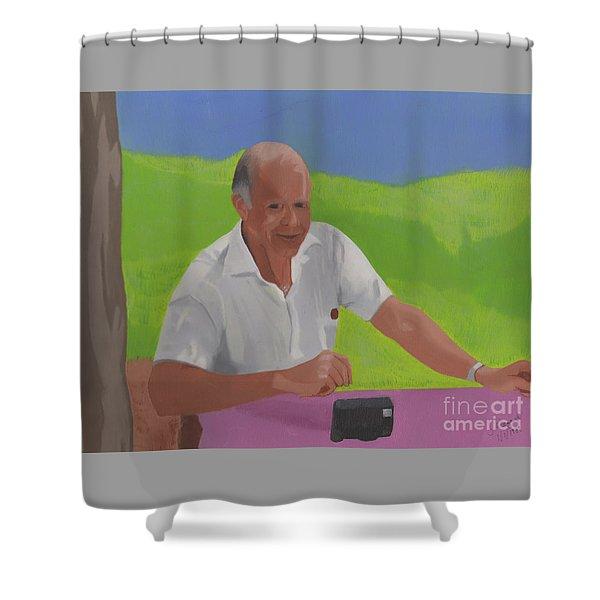 Grampa Wiegand Shower Curtain