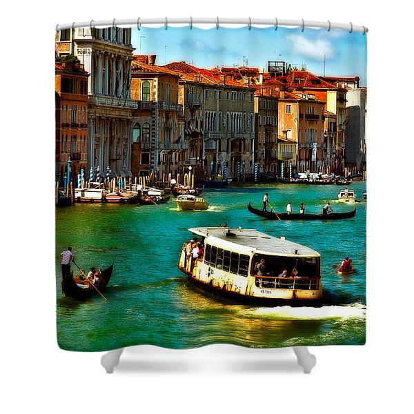 Grand Canal Daytime Shower Curtain