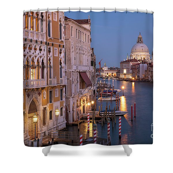 Grand Canal Twilight Shower Curtain