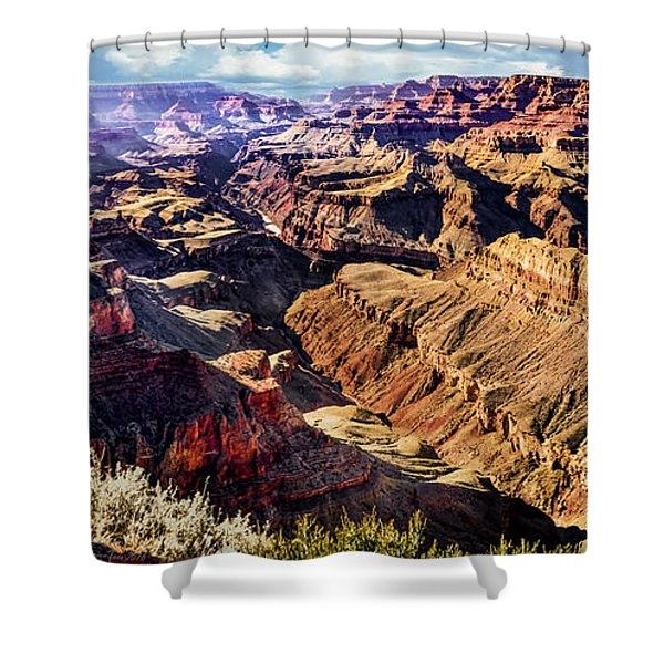 Grand Canyon Afternoon At Lipan Point Shower Curtain