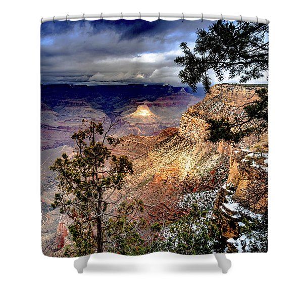 Grand Canyon In Winter Shower Curtain