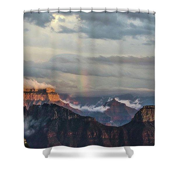 Grand Canyon Monsoon Rainbow Shower Curtain