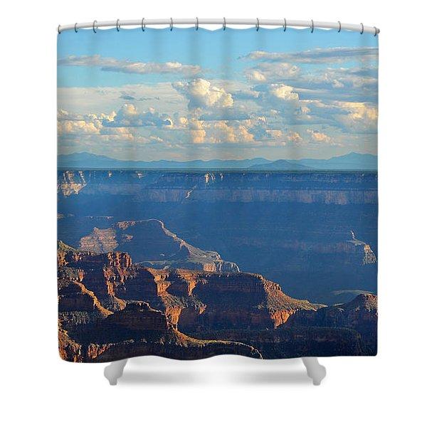 Grand Canyon North Rim Sunset San Francisco Peaks Shower Curtain