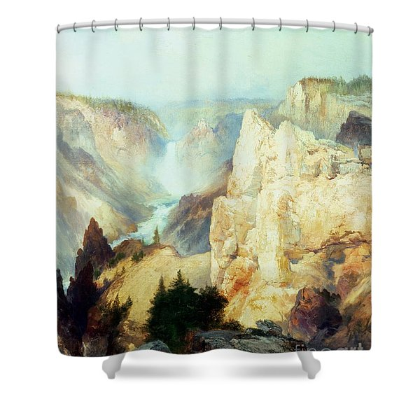 Grand Canyon Of The Yellowstone Park Shower Curtain