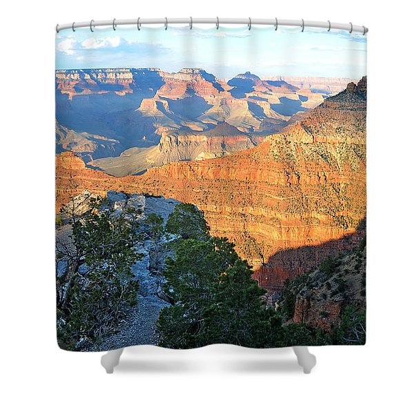Grand Canyon South Rim At Sunset Shower Curtain