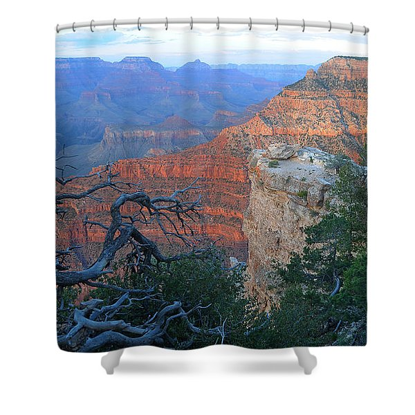 Grand Canyon South Rim - Red Hues At Sunset Shower Curtain