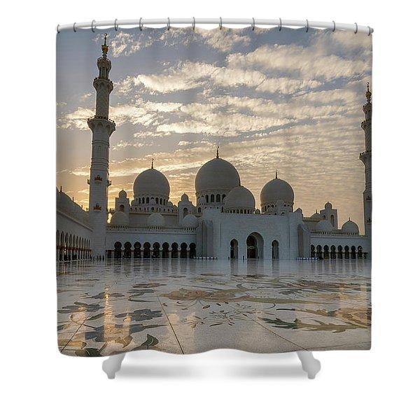 Grand Mosque Sunset Shower Curtain
