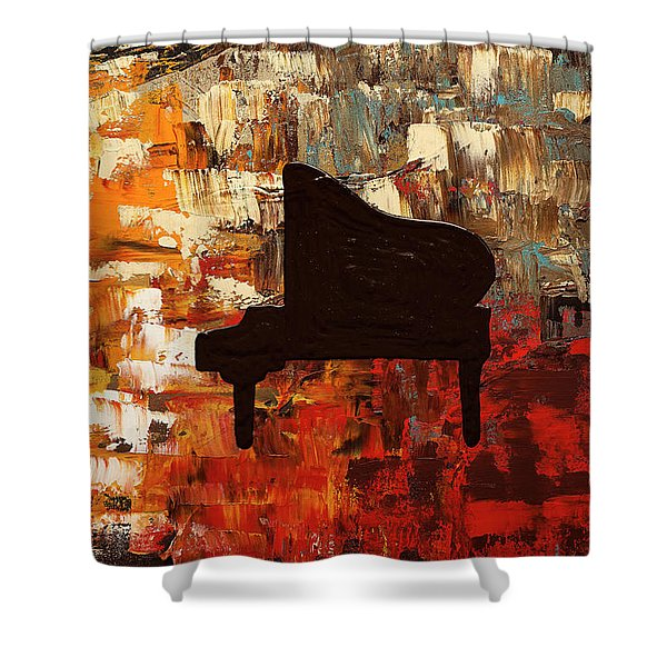 Grand Piano Shower Curtain