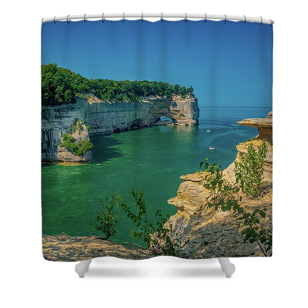 Grand Portal Point Shower Curtain
