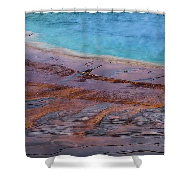 Grand Prismatic Spring Detail Shower Curtain