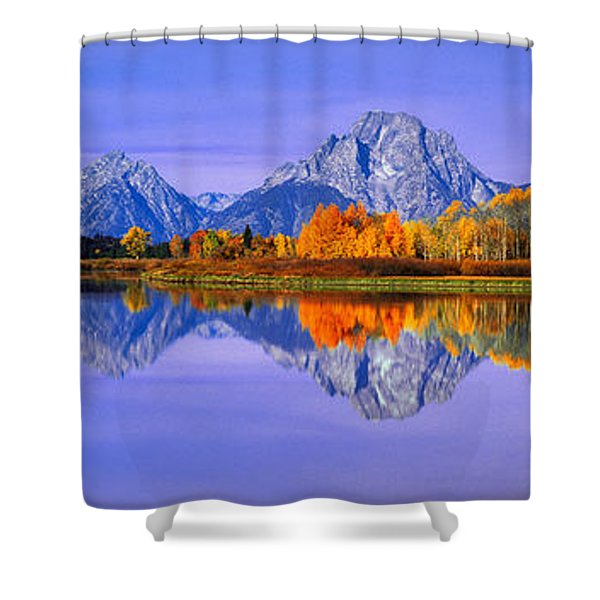 Grand Tetons And Reflection In Grand Shower Curtain