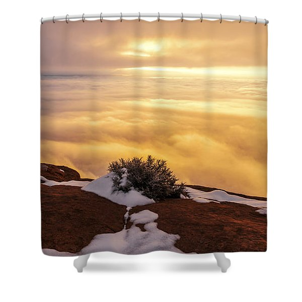 Grand View Glow Shower Curtain