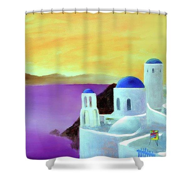 Grandeur Of Greece Shower Curtain