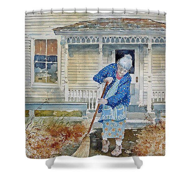 Grandma Shower Curtain