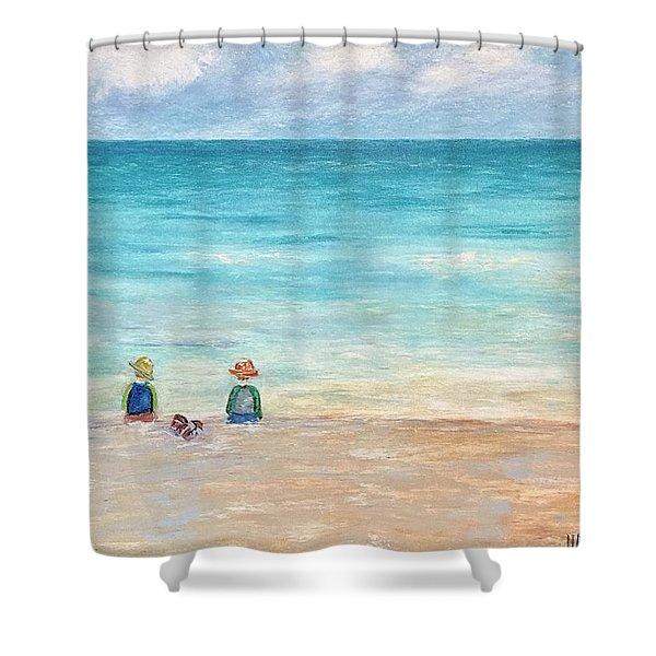 Grandmas View Shower Curtain