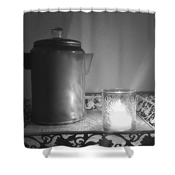 Grandmothers Vintage Coffee Pot Shower Curtain