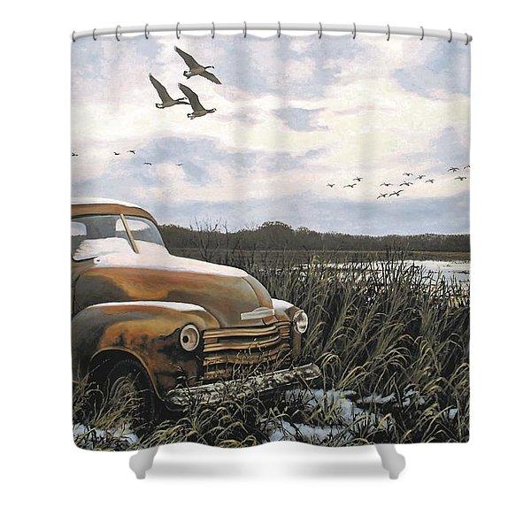 Grandpa's Old Truck Shower Curtain