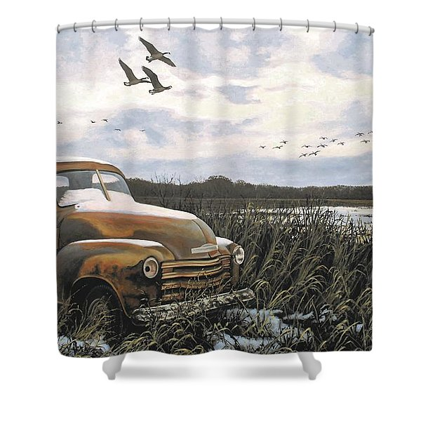 Grandpa's Old Truck Shower Curtain