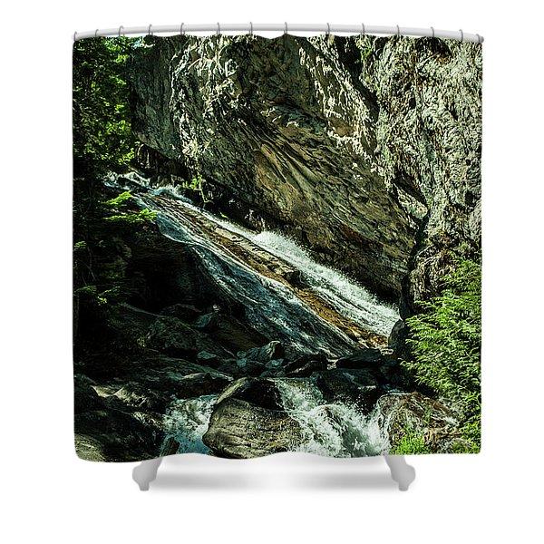 Granite Falls Of Ancient Cedars Shower Curtain