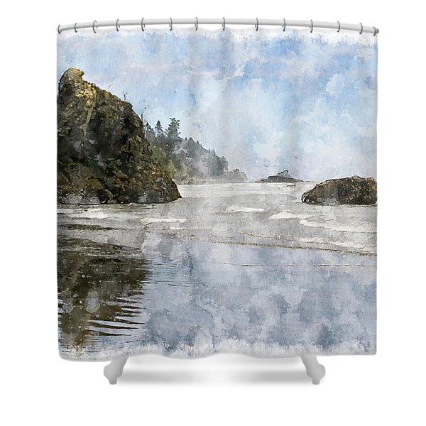 Granite Stacks Olympic Park Shower Curtain