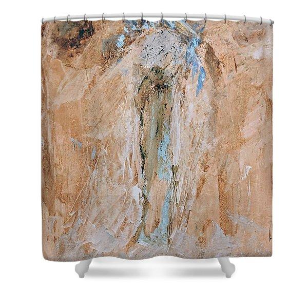 Granny Angel Shower Curtain